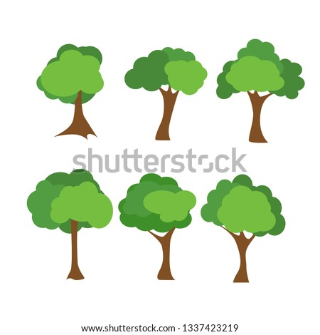 Tree icons set #1337423219