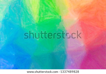 Abstract illustration of blue, green and yellow Wax Crayon background #1337489828