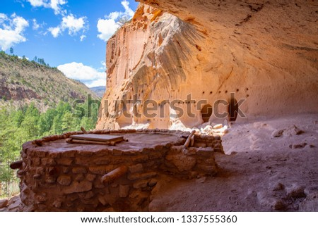 Alcove House in Bandelier National Monument,  New Mexico, USA #1337555360