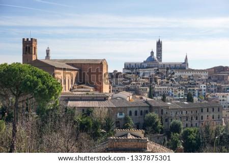Historical center of Siena, Toscana, Italy #1337875301