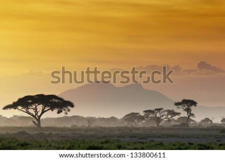 Beautiful sunset in Kenya 03 #133800611