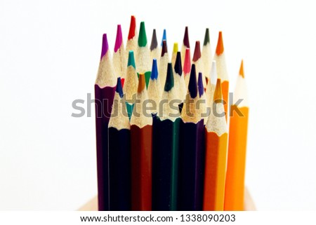 Colorful wooden pencils background #1338090203