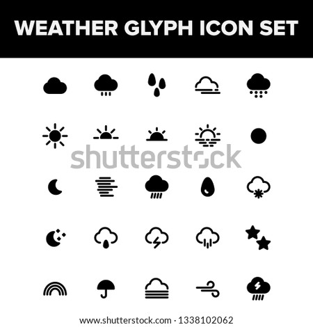 Weather Glyph Icon Set For Your Mobile App, Website & Printable Design #1338102062
