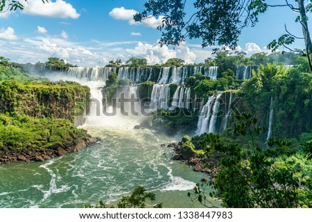 Part of The Iguazu Falls seen from the Argentinian National Park #1338447983