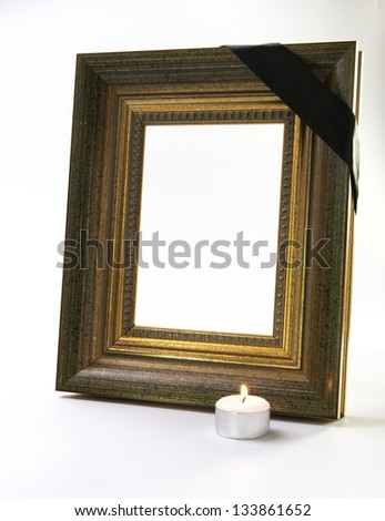 thick gold frame with candle light