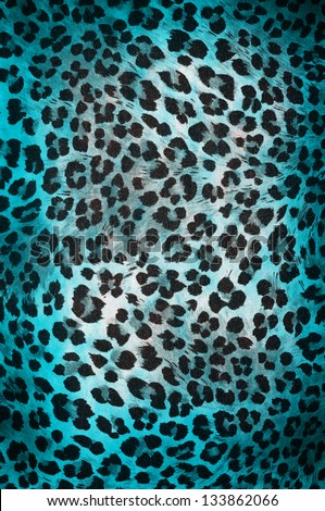 Colorful cheetah pattern
