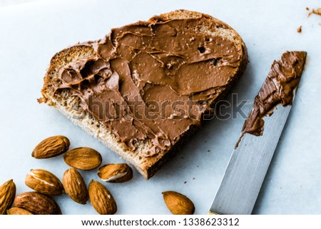 Raw Organic Almond Butter Cream with Bread #1338623312