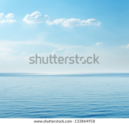 blue sea and clouds on sky #133864958