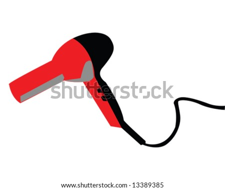 Blow Dryer Vector Illustration #13389385