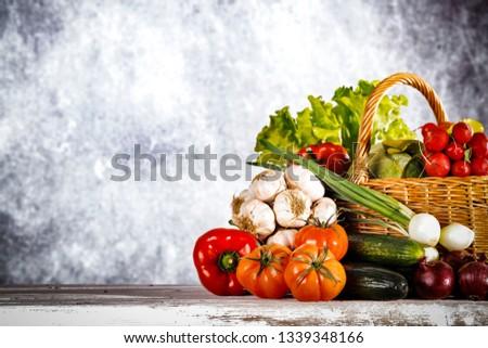 Spring vegetables and desk space  #1339348166