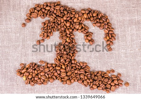 Exotic coffee from Brasil, Euthiopia and other countries where palms grow.  #1339649066