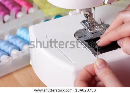 Threading contemporary sewing machine #134020733