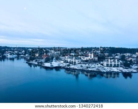 stockholm cityscape coastline #1340272418