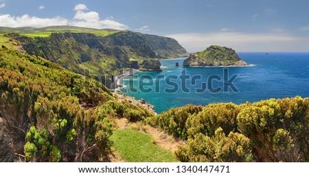 Northern Coast at Flores near Ponta Delgada (Azores islands) #1340447471