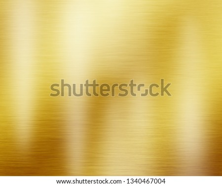 Gold metal texture or yellow steel plate background #1340467004