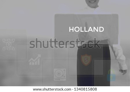 HOLLAND - technology and business concept #1340815808