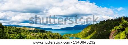 Lake Tarawera is one of many lakes in the Rotorua area. #1340845232