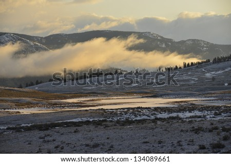 Sunrise over Blacktail Lakes in Winter #134089661