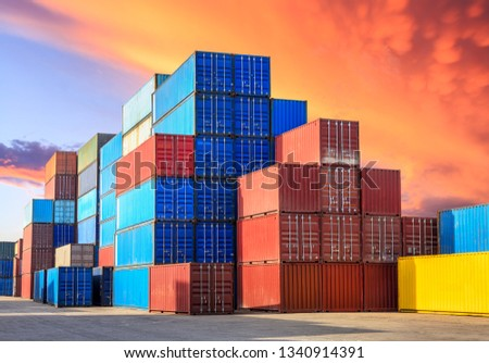 Industrial Container yard for Logistic Import Export business #1340914391
