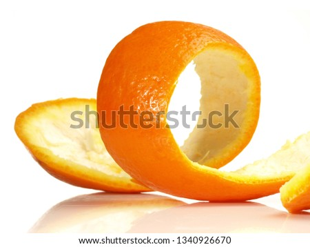 Orange Skin on white Background #1340926670