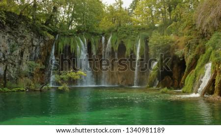 Croatia Plitvice lakes #1340981189