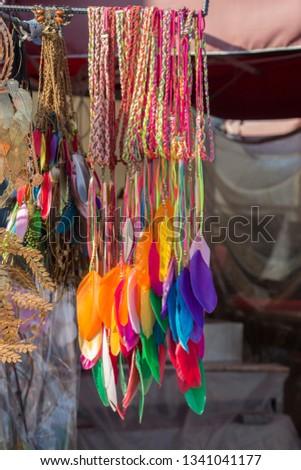 Beautiful bird feathers for decorative purposes #1341041177