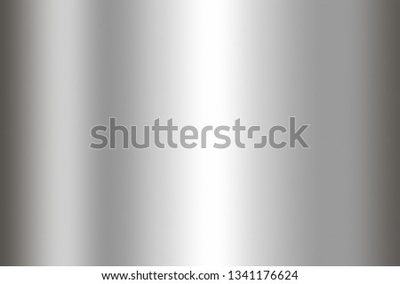 Stainless steel texture background. Shiny surface of metal sheet. #1341176624