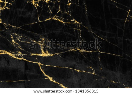 Black and gold marble texture design for cover book or brochure, poster, wallpaper background or realistic business and design artwork. #1341356315