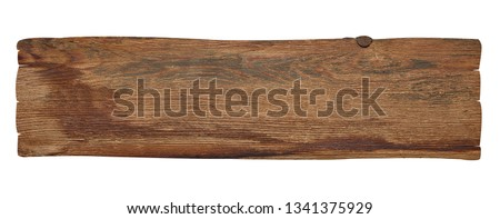 close up of a wooden sign background on white background