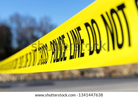 police line at crime scene #1341447638