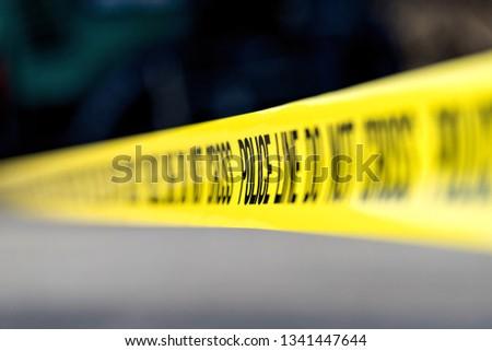 police line at crime scene #1341447644
