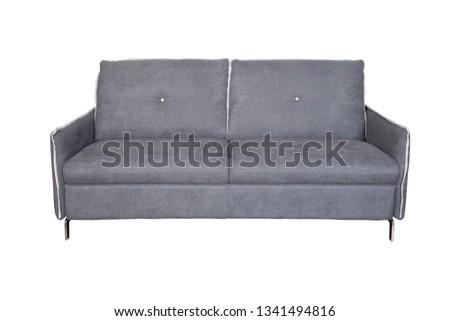 Isolated contemporary grey sofa #1341494816