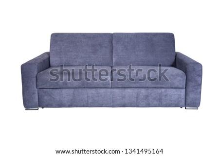 Isolated contemporary blue sofa #1341495164