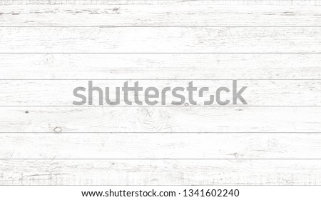 White wood pattern and texture for background. Close-up image. #1341602240