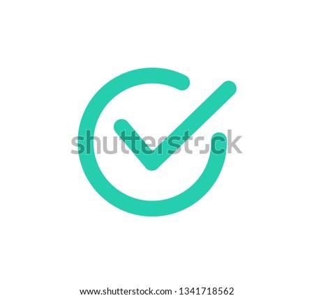 Check mark icon. Vector illustration
