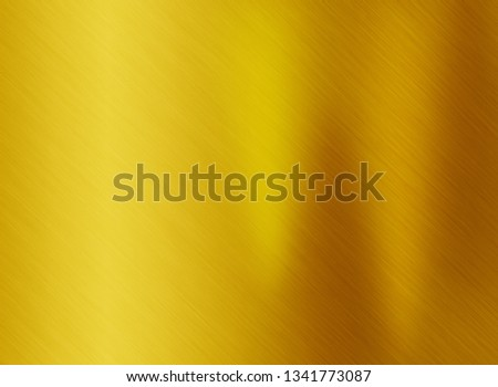 Gold metal or yellow stainless texture background #1341773087