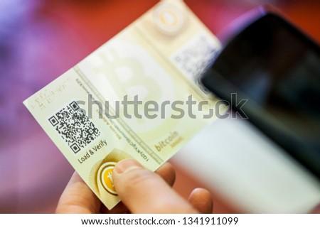 Vilnius/Lithuania March 12, 2017 The Bitcoin Cheque  #1341911099