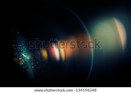 Chromatic aberration in the lens. Macro, high ISO Royalty-Free Stock Photo #134196248