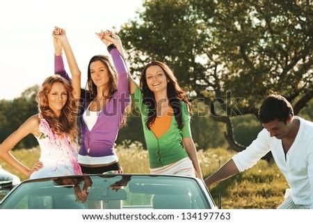 funey friends in dance car #134197763