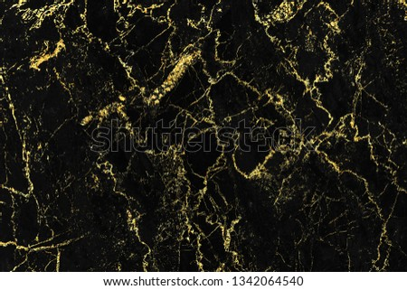 Black and gold marble texture design for cover book or brochure, poster, wallpaper background or realistic business and design artwork. #1342064540