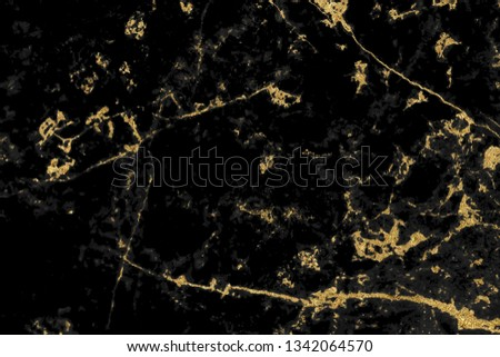 Black and gold marble texture design for cover book or brochure, poster, wallpaper background or realistic business and design artwork. #1342064570