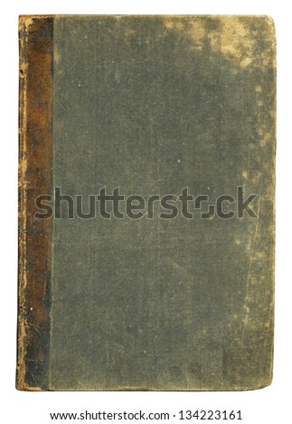 Blank old book cover, isolated. #134223161