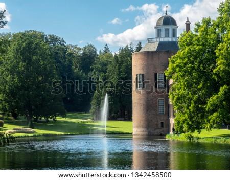 Small romantic castle Rosendael, located in Rozendaal, Gelderland, Netherlands. #1342458500
