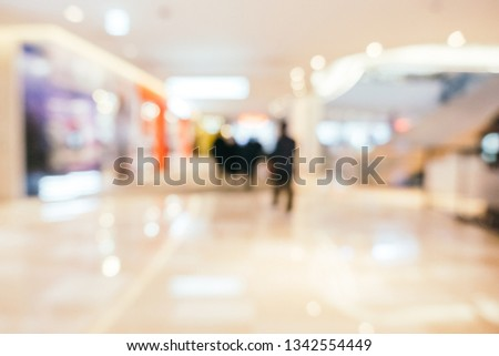 Abstract blur shopping mall of department store interior for background #1342554449