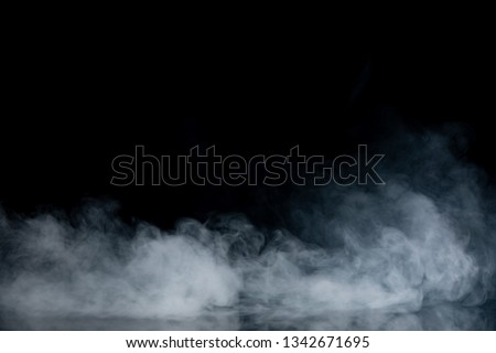 Abstract Smoke on black Background #1342671695