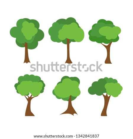 Tree icons set #1342841837