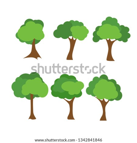 Tree icons set #1342841846