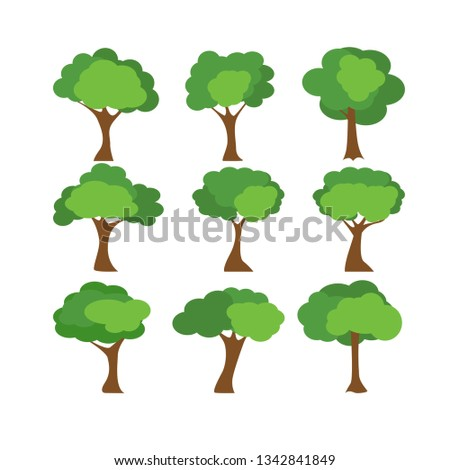 Tree icons set #1342841849