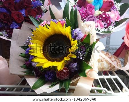 sunflower bouquet flower bouquet #1342869848