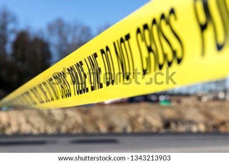 police line at crime scene #1343213903